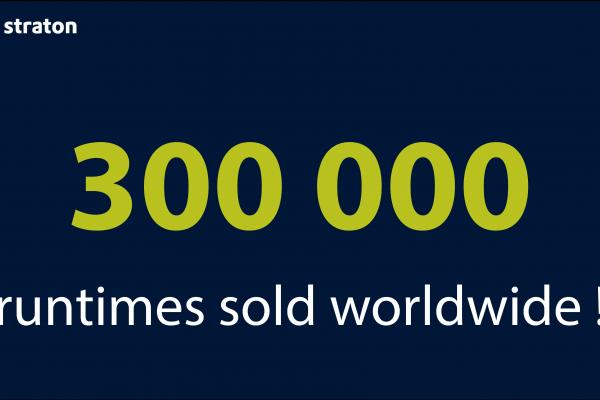 300 000 Runtimes straton vendus à travers le monde