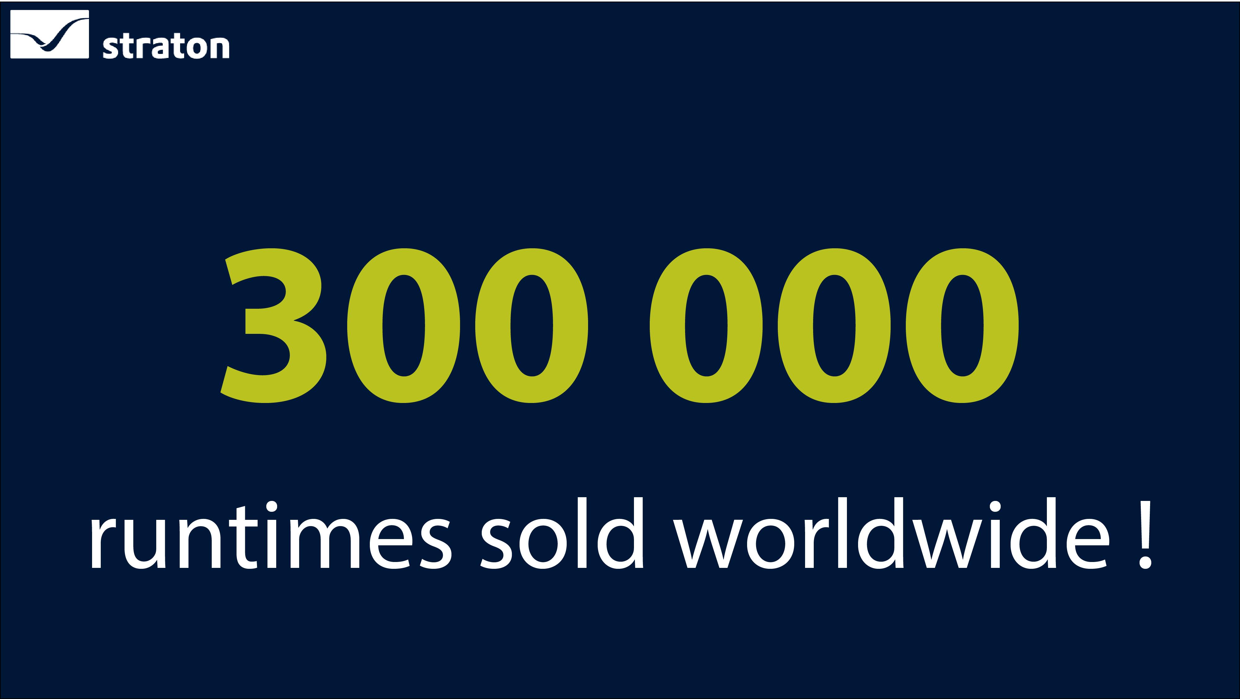 300 000 Runtimes straton